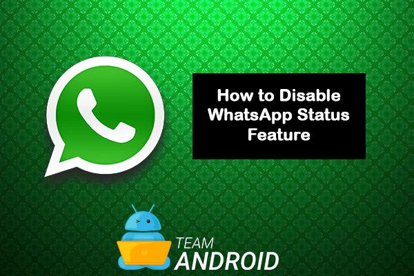Inaktivera WhatsApp-status