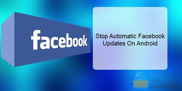 Stoppa automatiska Facebook-uppdateringar