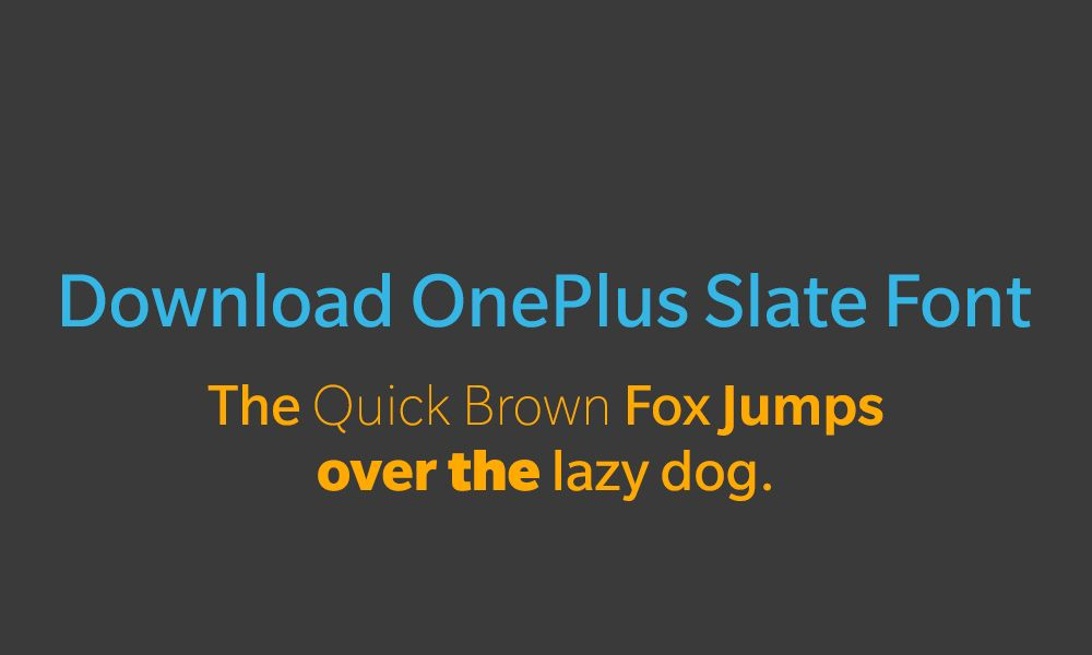 Ladda ner OnePlus Slate-teckensnitt