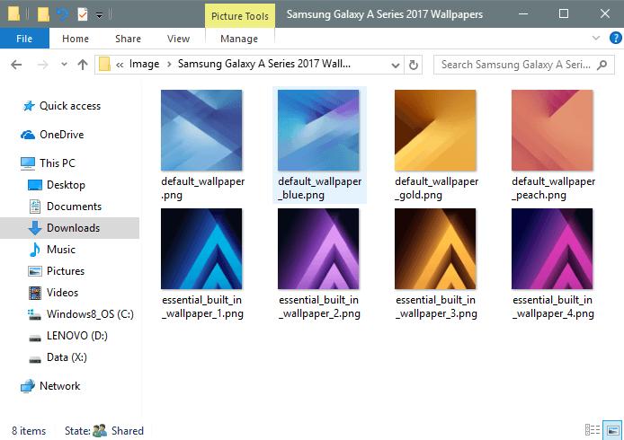 Samsung Galaxy A Series Bakgrundsbilder