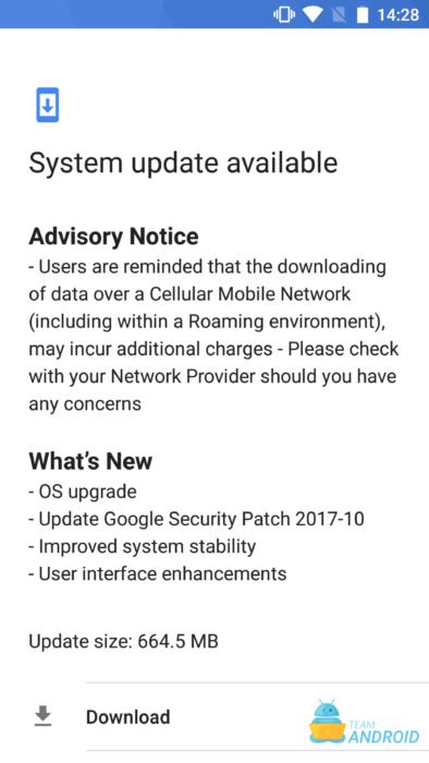 Ladda ner Nokia 6 oktober 2017 Systemuppdatering