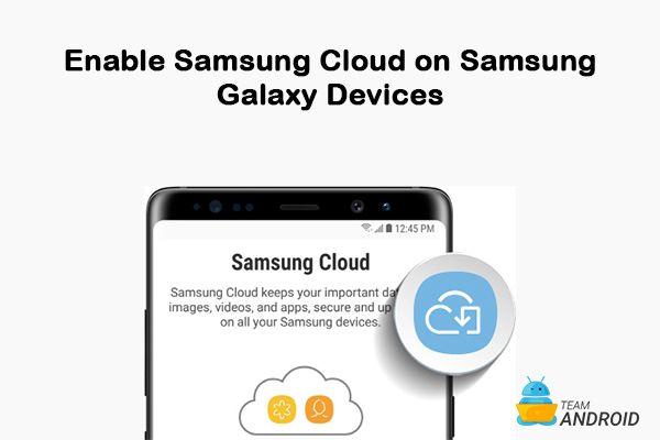 Aktivera Samsung Cloud Shortcut