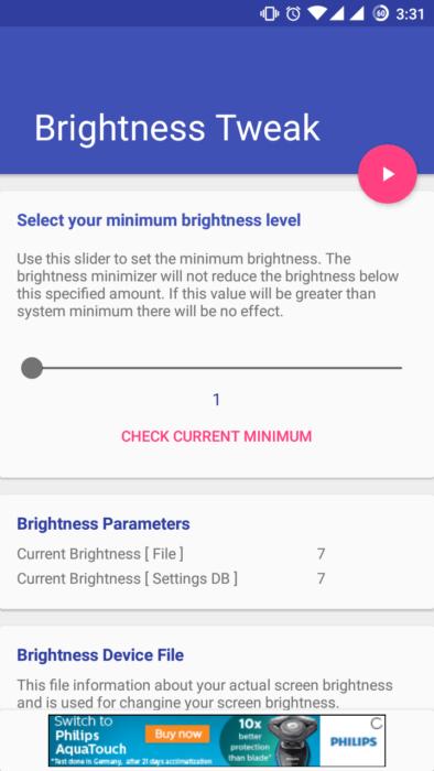 Lägre lägsta ljusstyrka på Android-telefoner [Root] 16