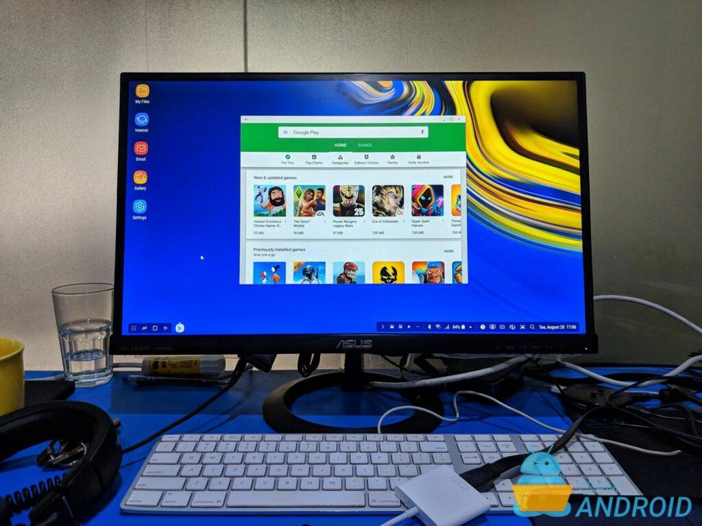 Linux på Dex Beta, Samsung