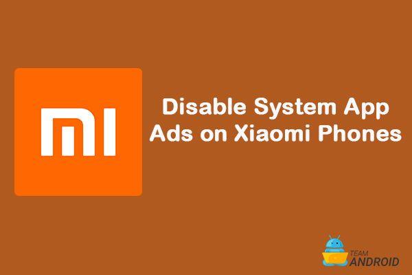 Så här inaktiverar du systemappsannonser, Xiaomi