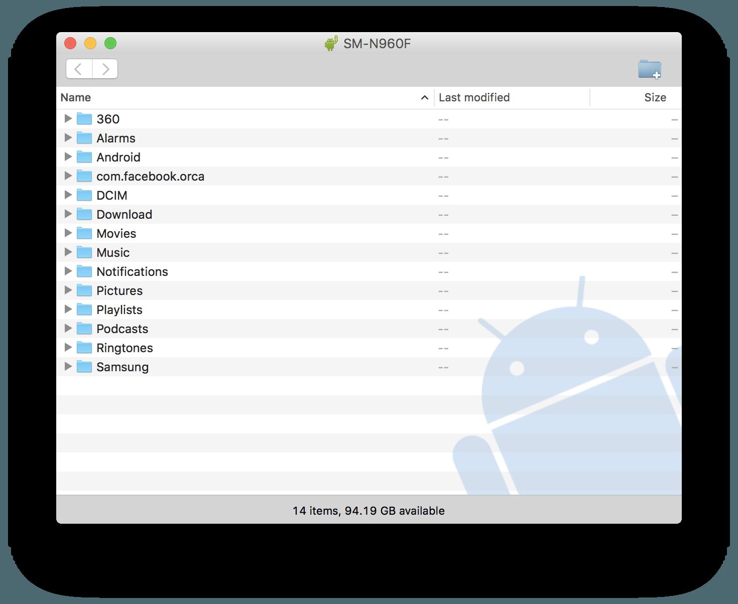 Ladda ner Android File Transfer för Samsung Galaxy S20