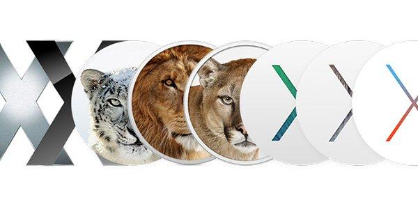 Mac OS X-historik