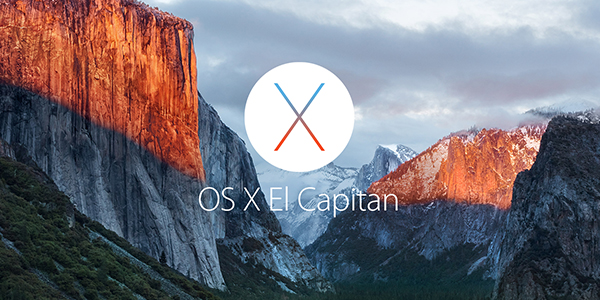 OS X El Capitan-logotyp på bakgrundsbild på skrivbordet