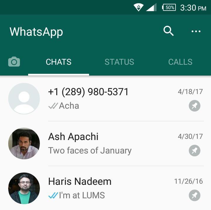 WhatsApp låter dig nu fästa 3 chattar till topp 11