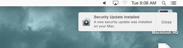 Automatisk säkerhetsuppdatering