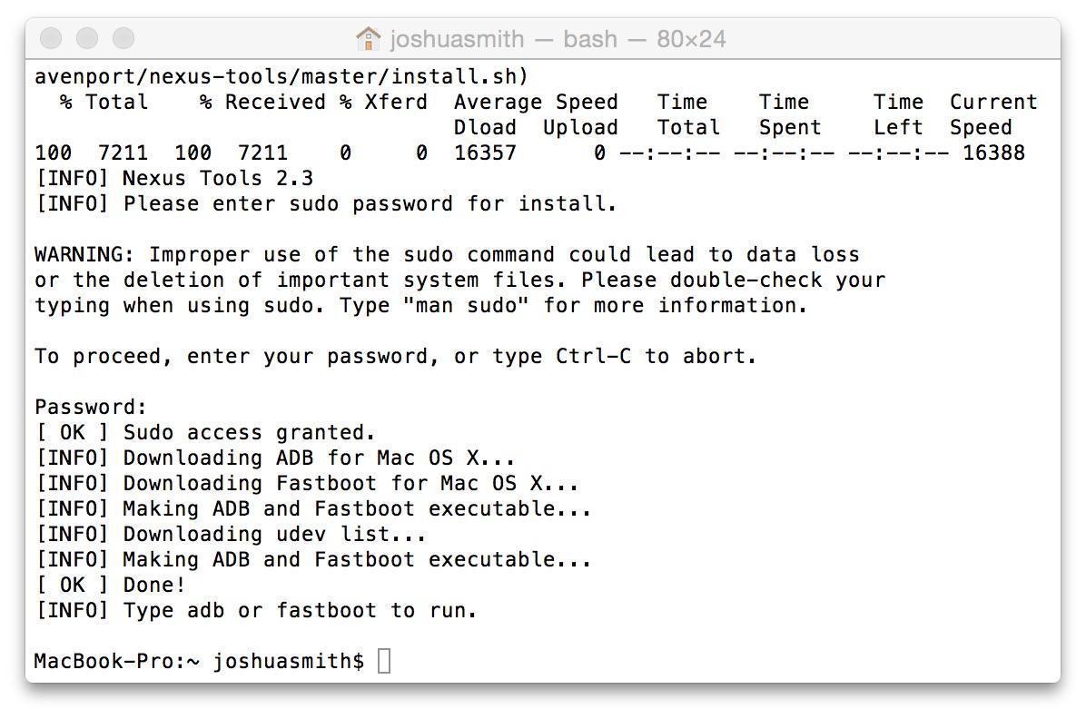 Detta verktyg installerar ADB på Mac, Linux och ChromeOS enkelt.