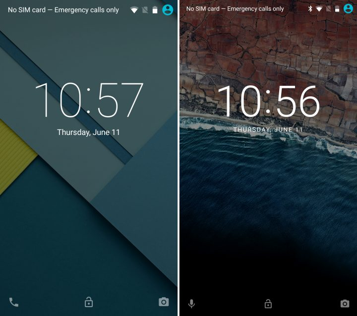 Android 5.1 vs Android M - Låsskärm