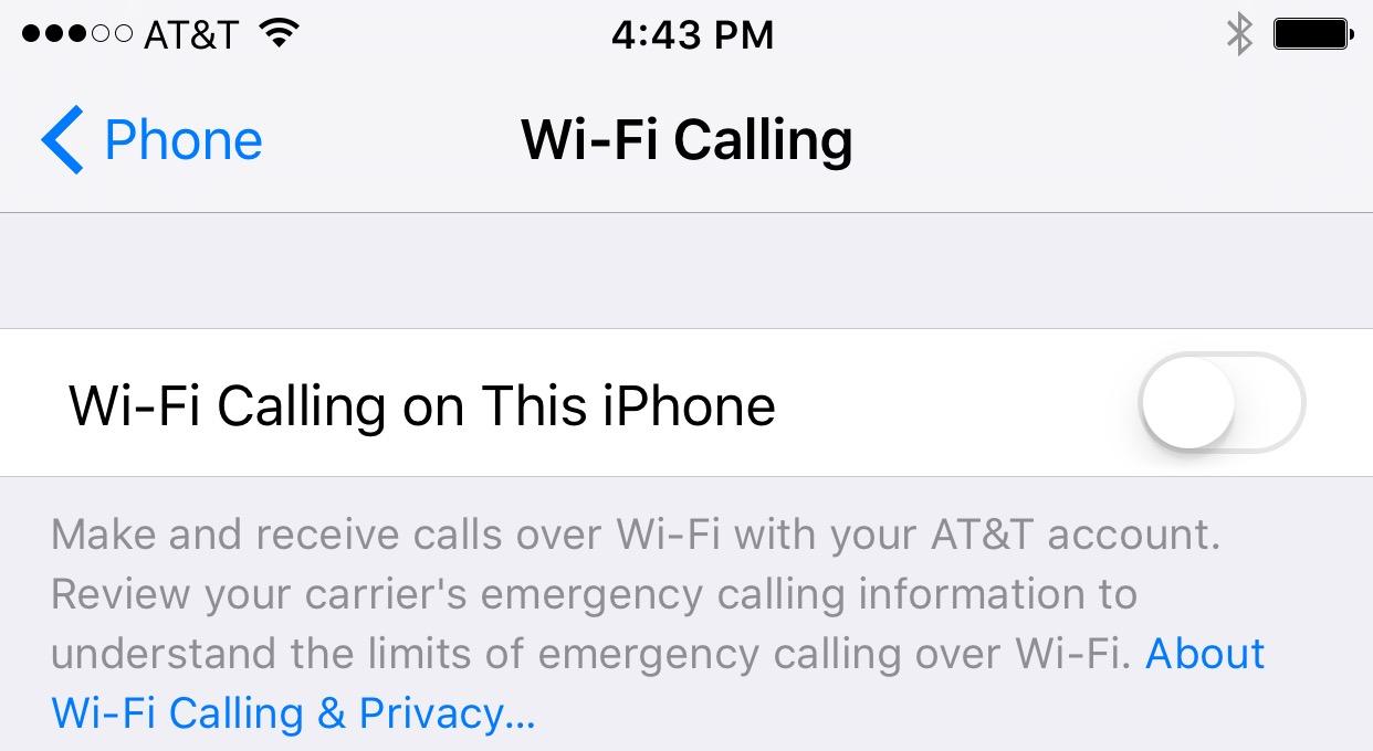 iOS 9-inställningar att ändra - Wifi-samtal