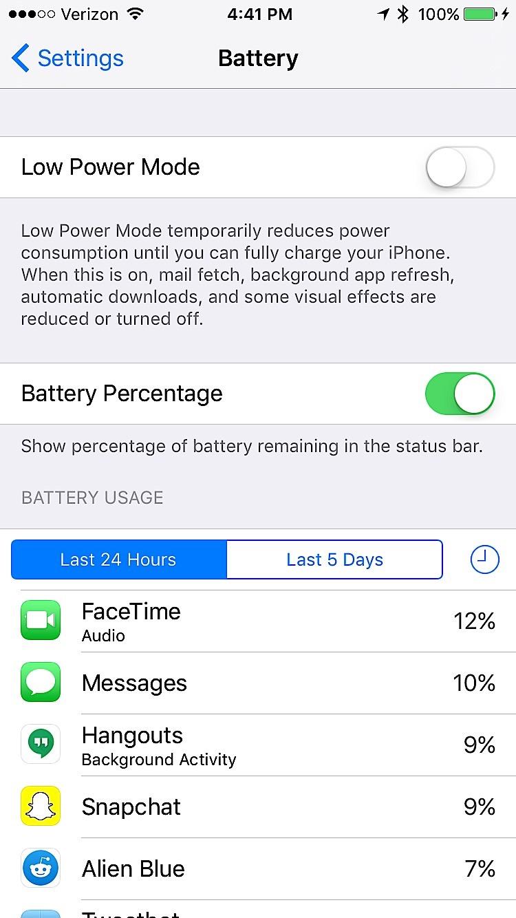 Inställningar för iOS 9 att ändra - 7