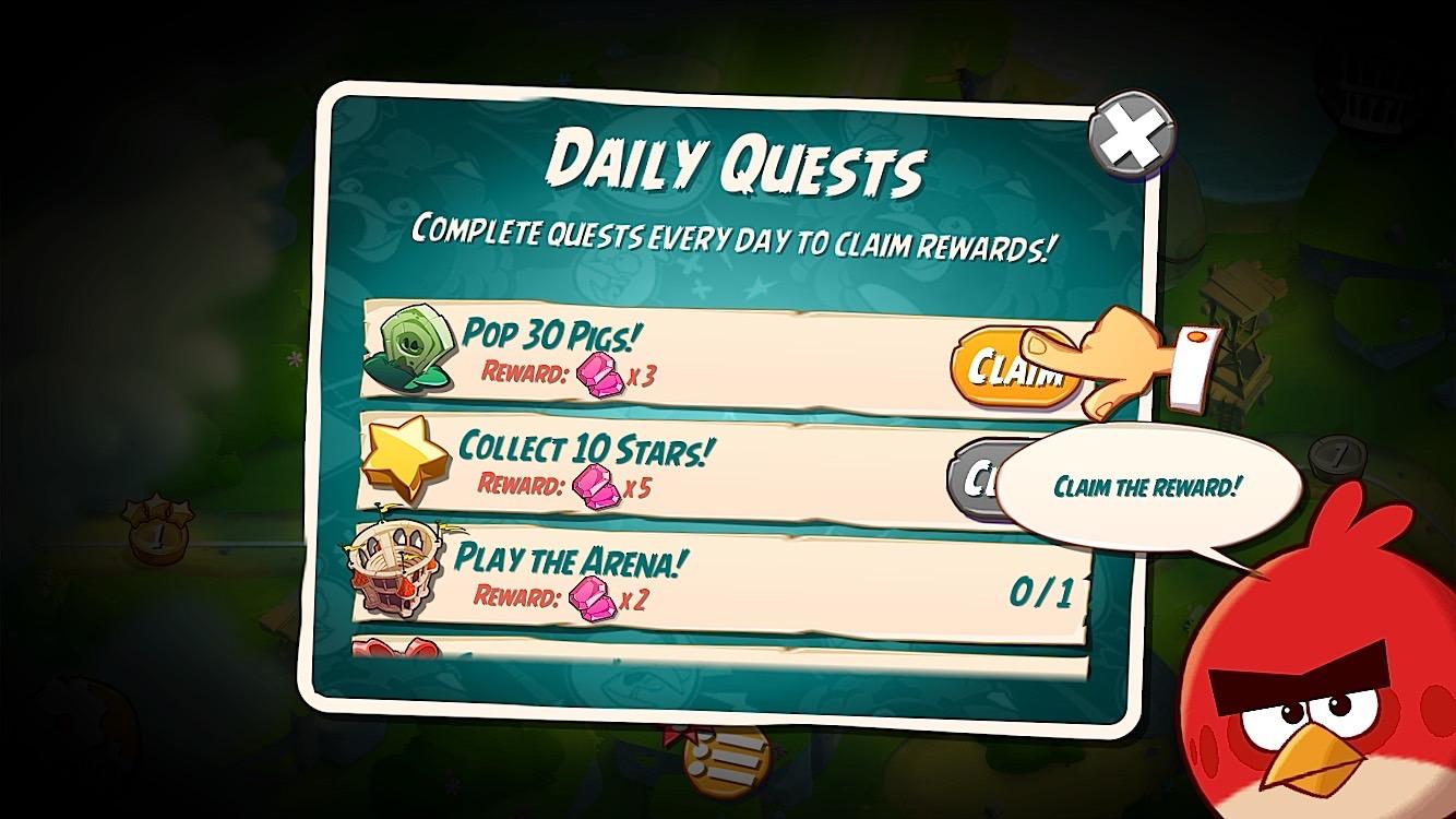 Avsluta uppdrag för att få mer gratis i spelobjekt.