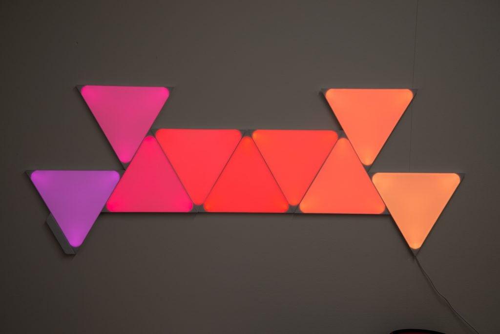 Nanoleaf Formar färgförändring