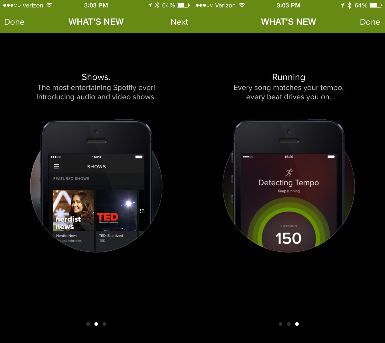 Med ett tryck kan du få nya Spotify Now- och Spotify Running-funktioner på iPhone.