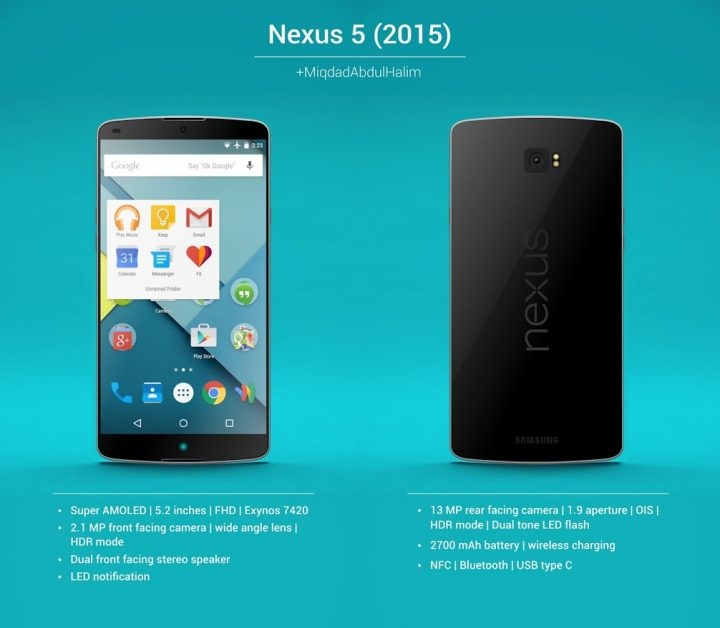 Nexus 5 2015 koncept