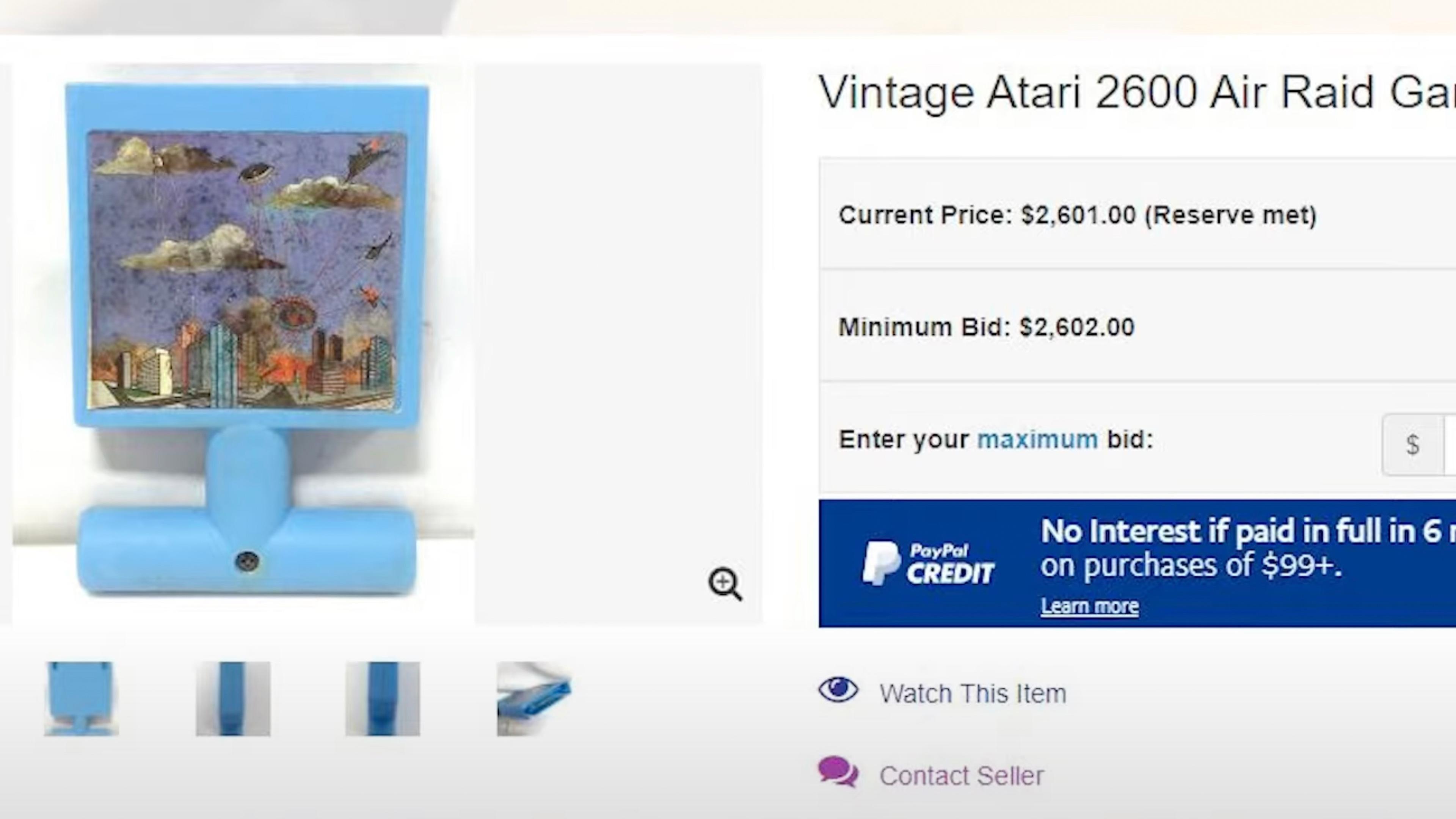 Auktion av Atari Air Raid