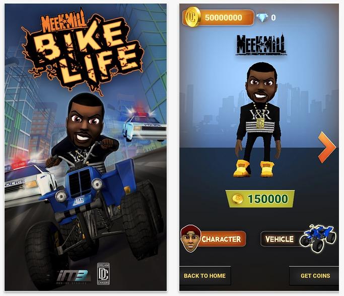 Du kan göra köp i appen i Meek Mill Presents Bike Life för att uppgradera din karaktär och cykel.