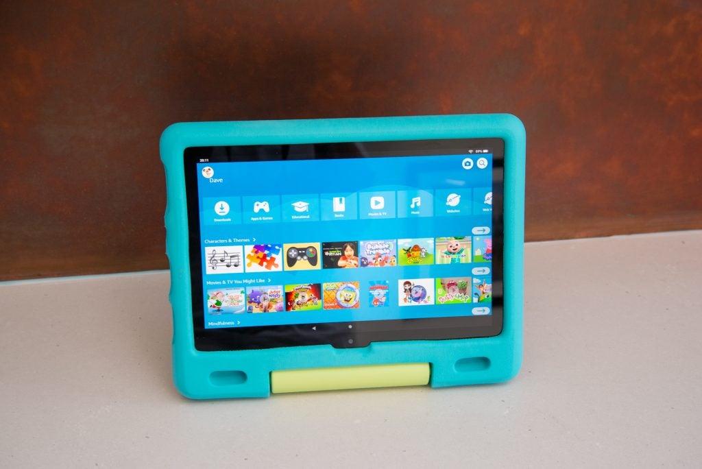 Amazon Fire HD 10 Kids huvudgränssnitt