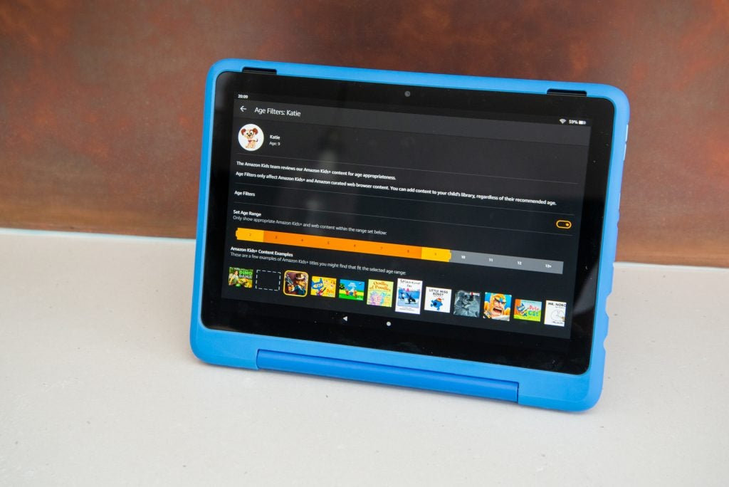 Amazon Fire HD 10 Kids Pro åldersinställningar