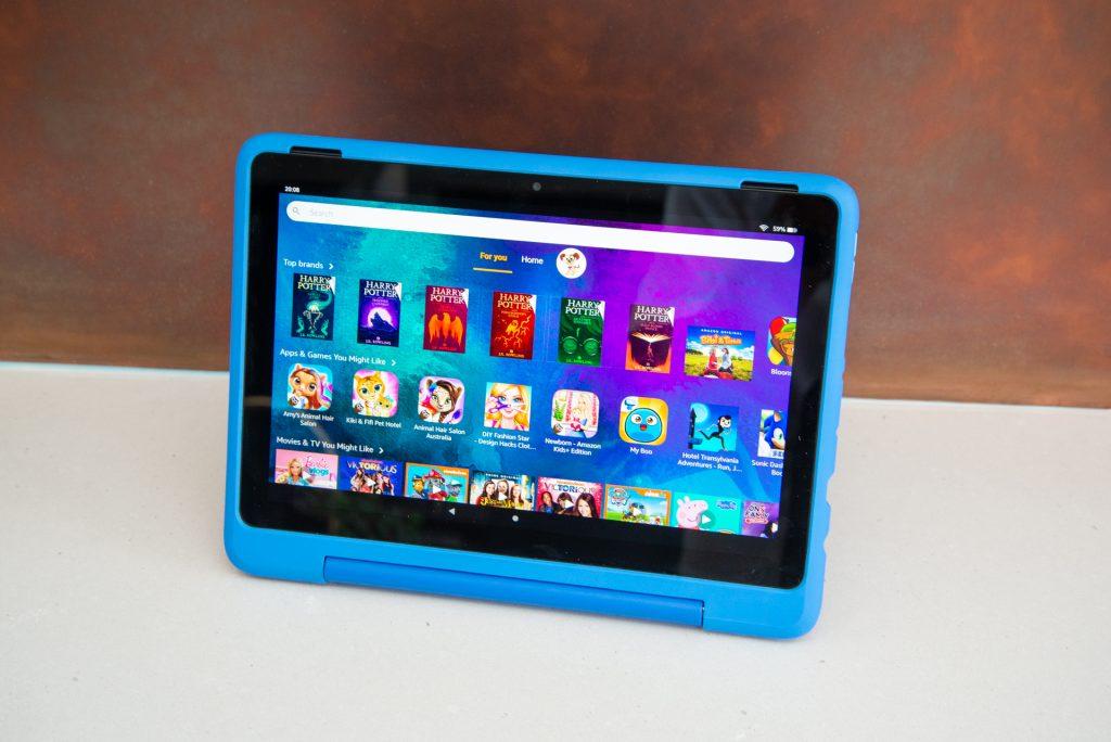 Amazon Fire HD 10 Kids Pro huvudgränssnitt