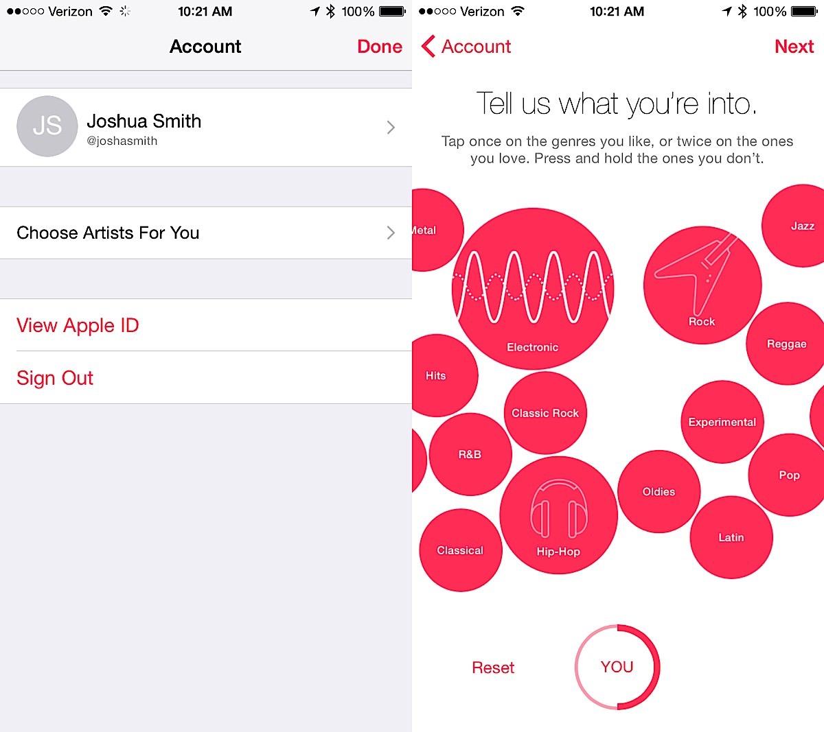 Berätta för Apple Music om din smak har förändrats.