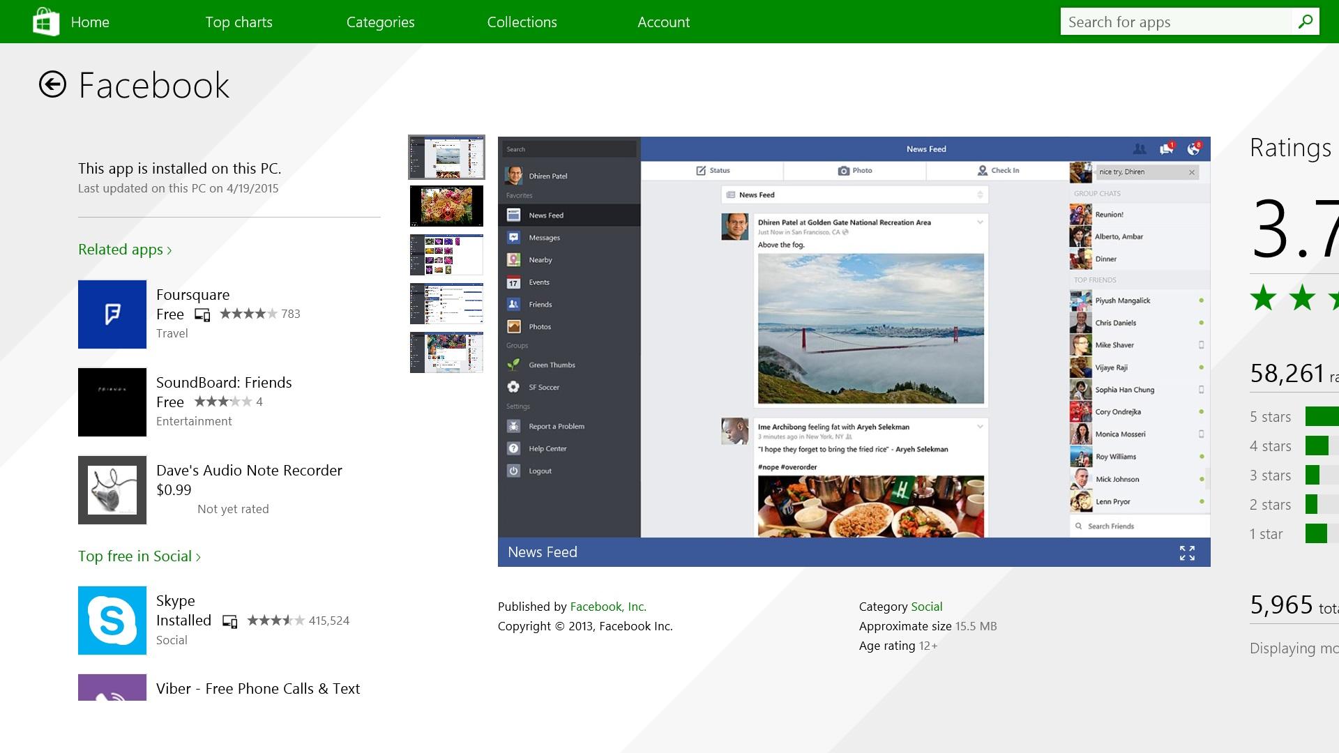 Så här använder du Facebook på Windows 8.1 (3)