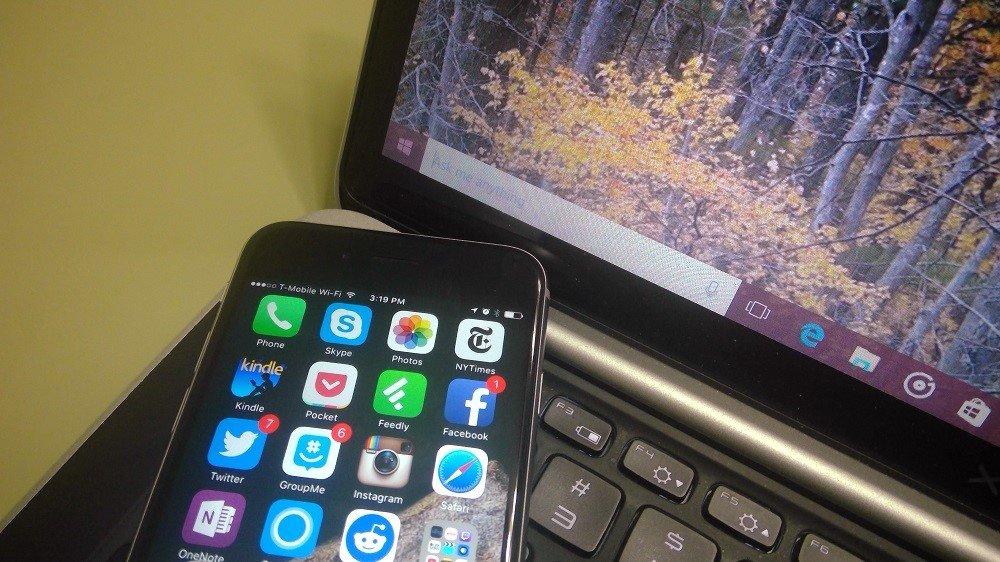 iPhone och Windows 10