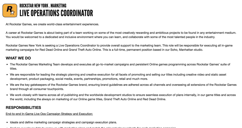 Rockstar jobb erbjudande