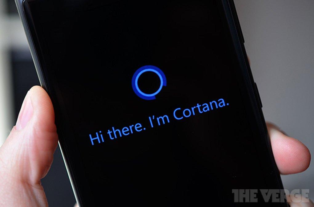 En bild av Cortana, fångad av The Verge.