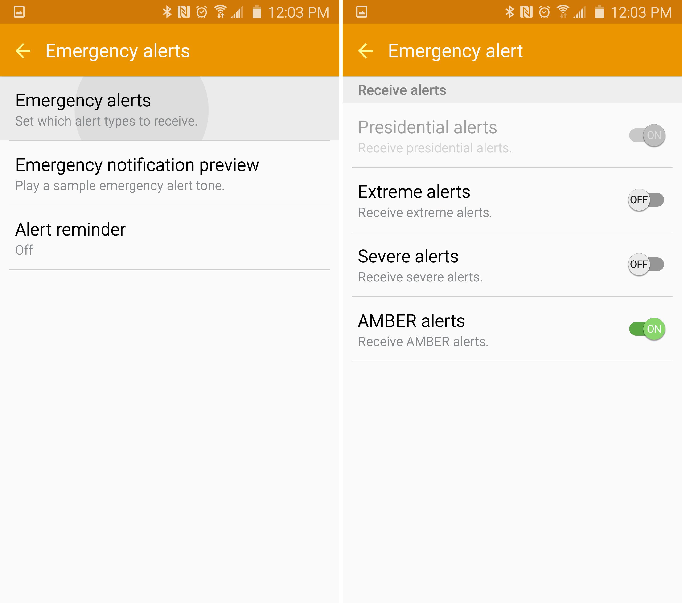 Galaxy S6-varningar av