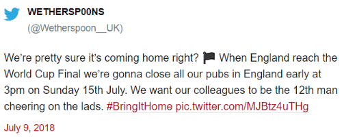 Wetherspoons Parody Early Close Tweet Small