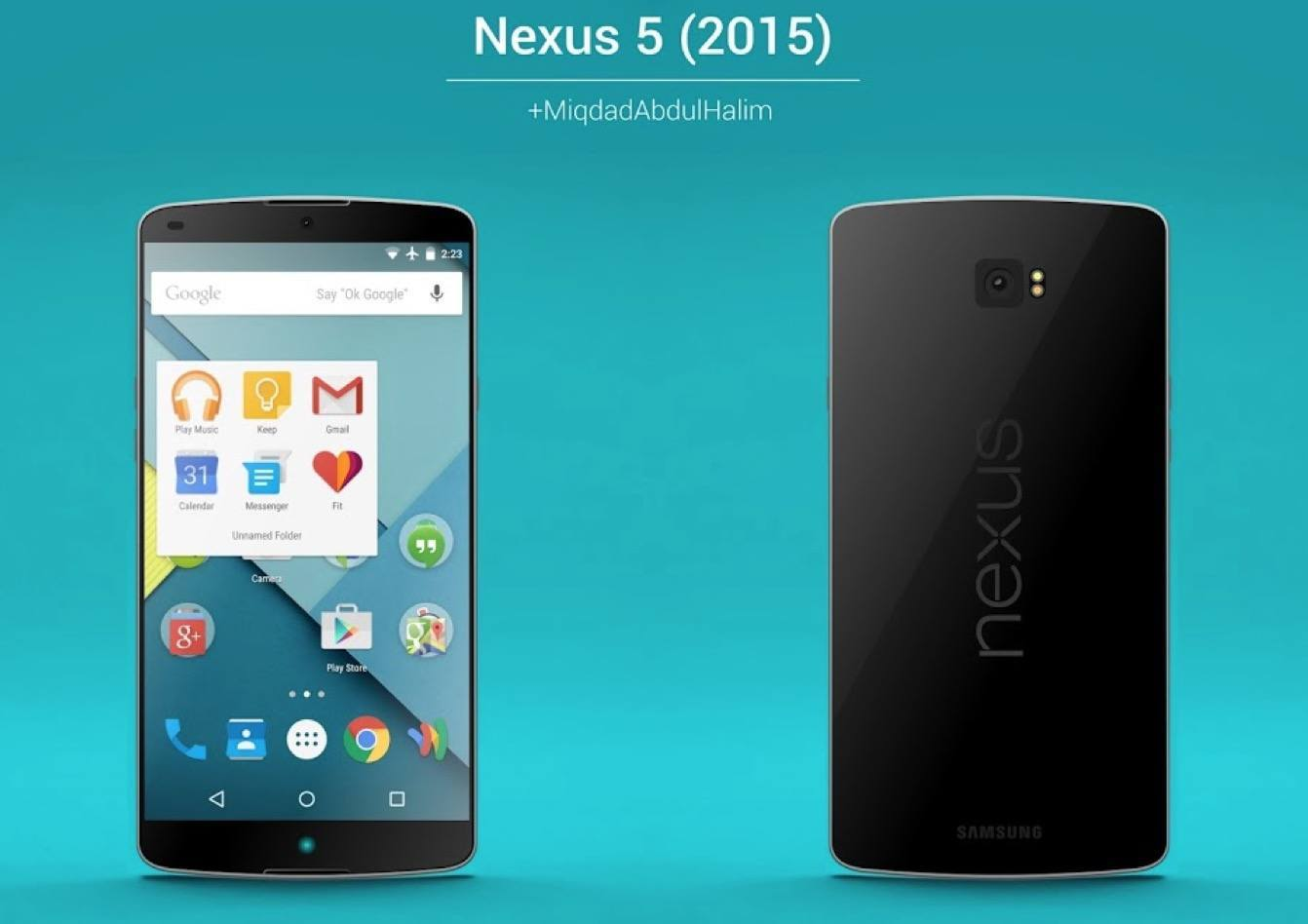 Fan-made Nexus 5 (2015) Concept Render