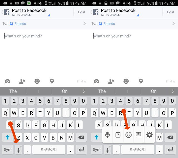 Så här använder du Galaxy S6 Emoji-tangentbordet.