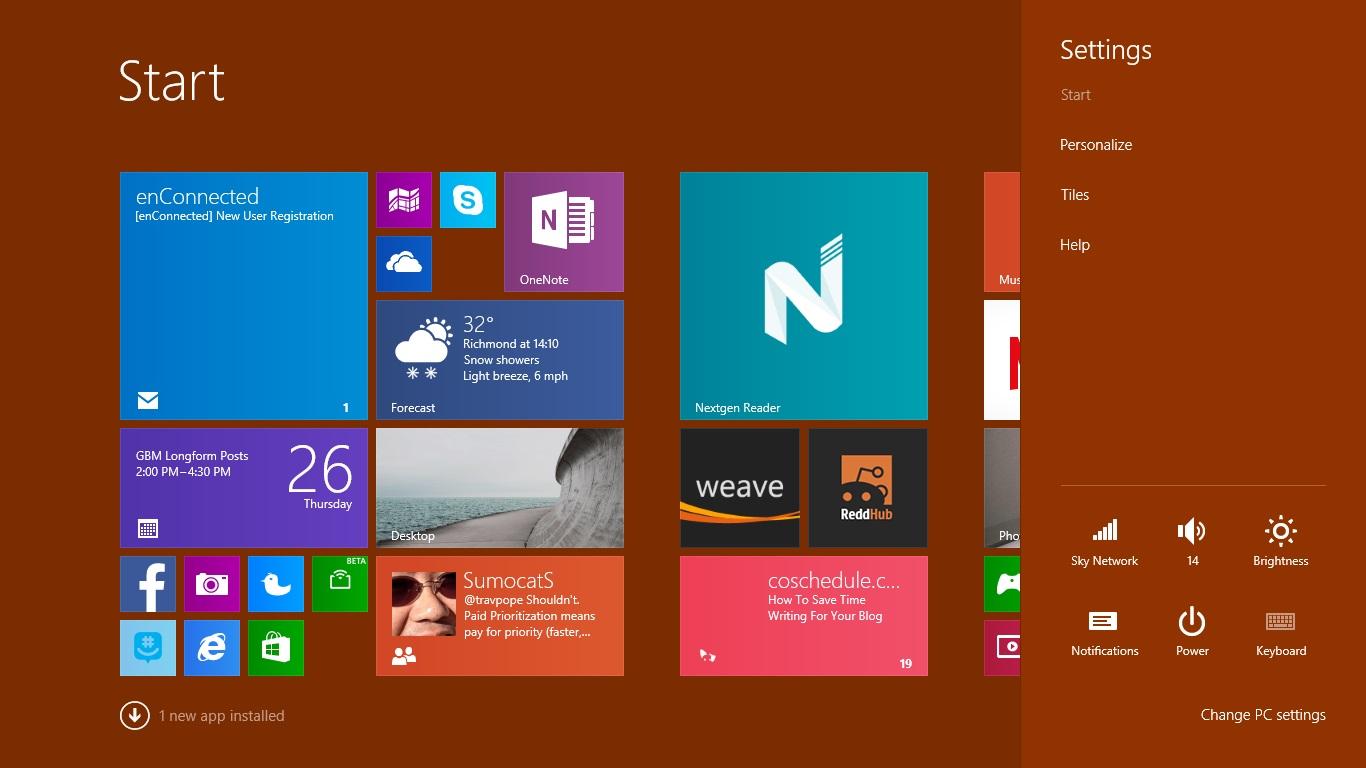 Så här ställer du in en bakgrund i Windows 8 (2)