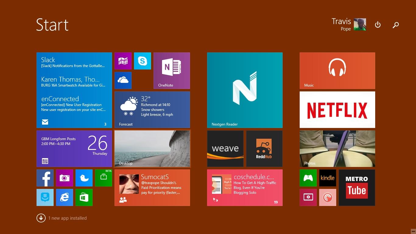 Så här ställer du in en bakgrund i Windows 8 (5)