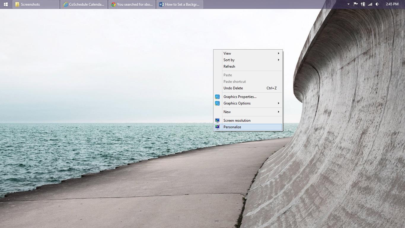 Så här ställer du in en bakgrund i Windows 8 (7)