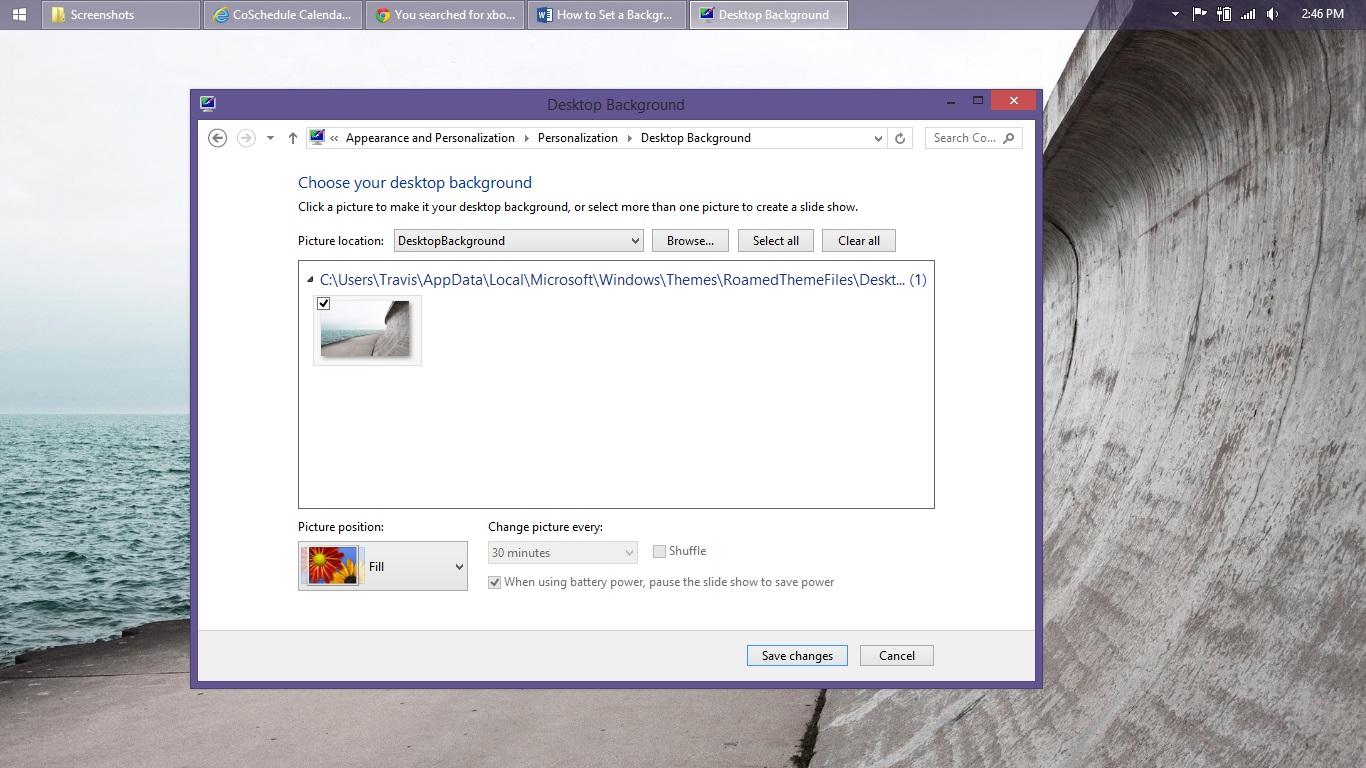 Så här ställer du in en bakgrund i Windows 8 (9)