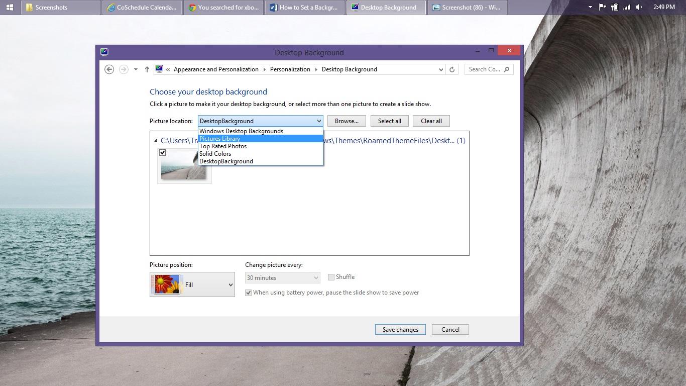 Så här ställer du in en bakgrund i Windows 8 (10)