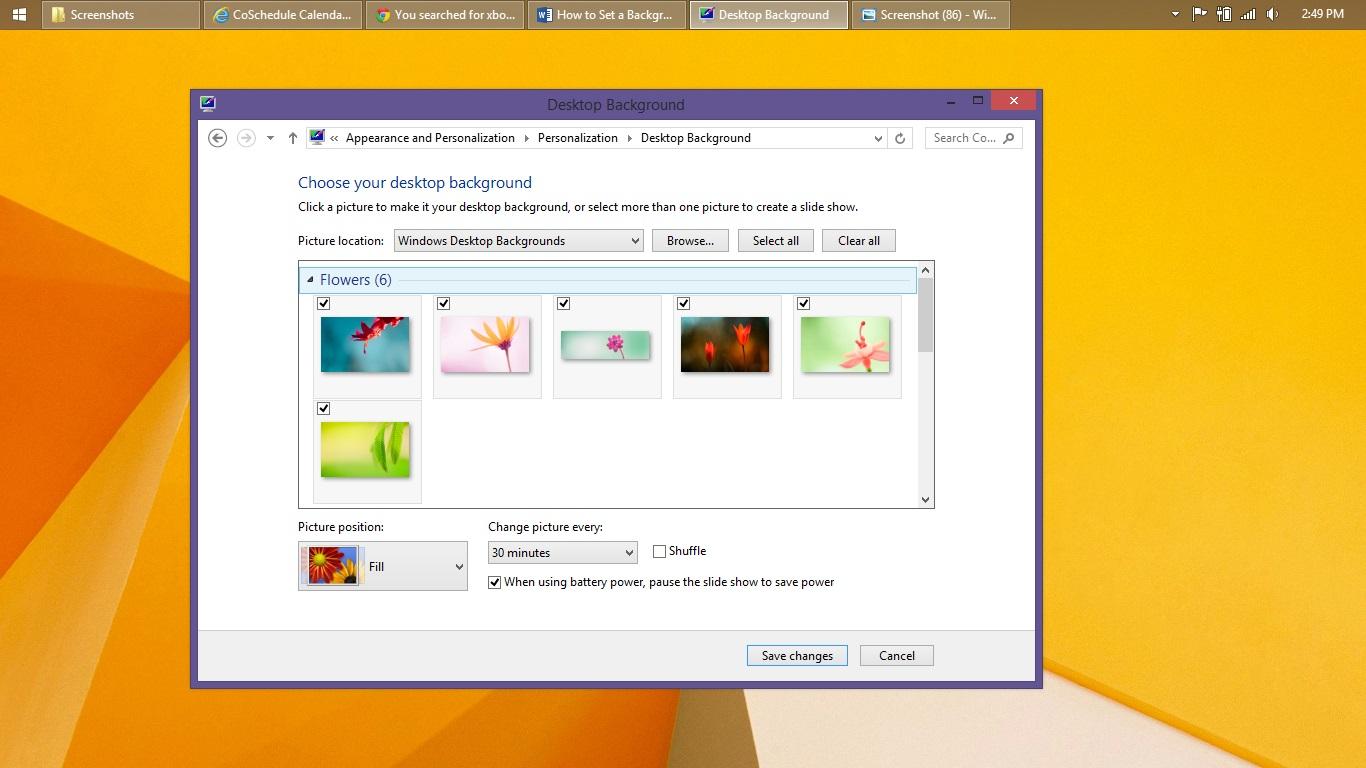 Så här ställer du in en bakgrund i Windows 8 (11)
