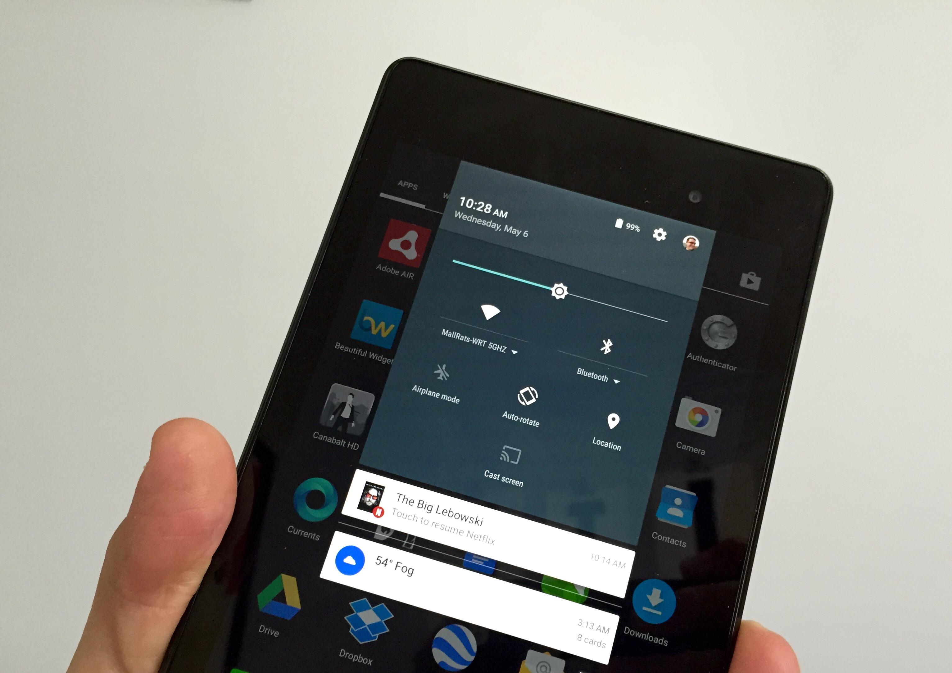 Anslutningen är solid på Nexus 7 med Android 5.1.1.