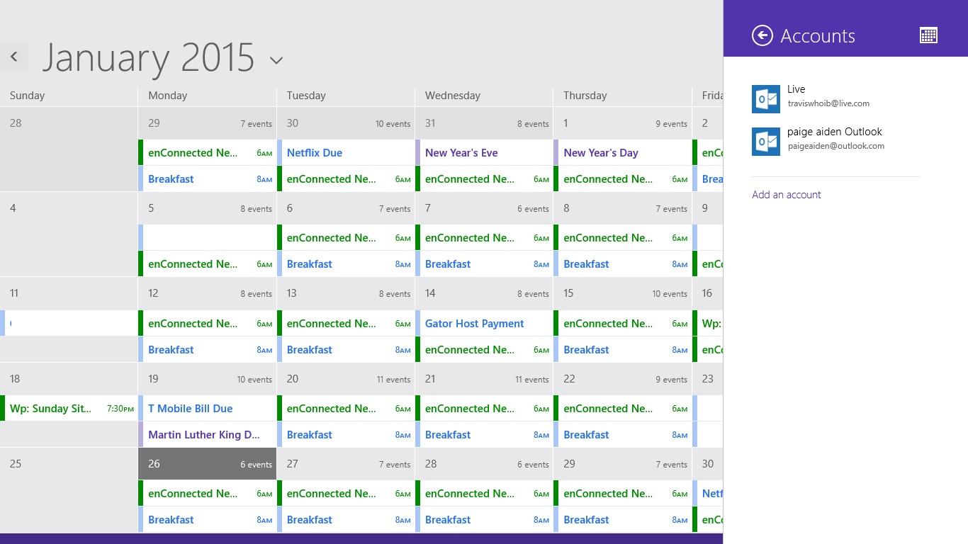 Så här lägger du till kalendrar i kalendern i Windows 8 (6)