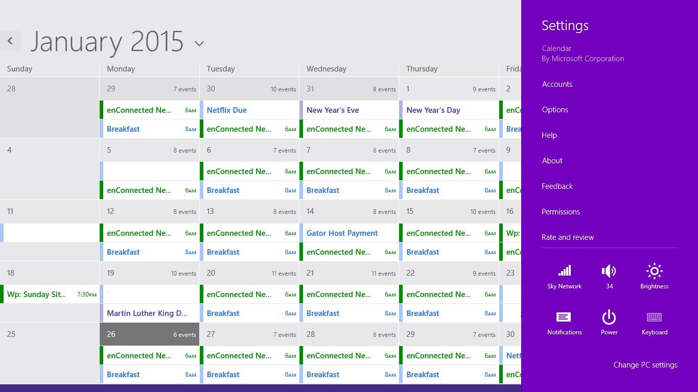 Så här lägger du till kalendrar i kalendern i Windows 8 (5)