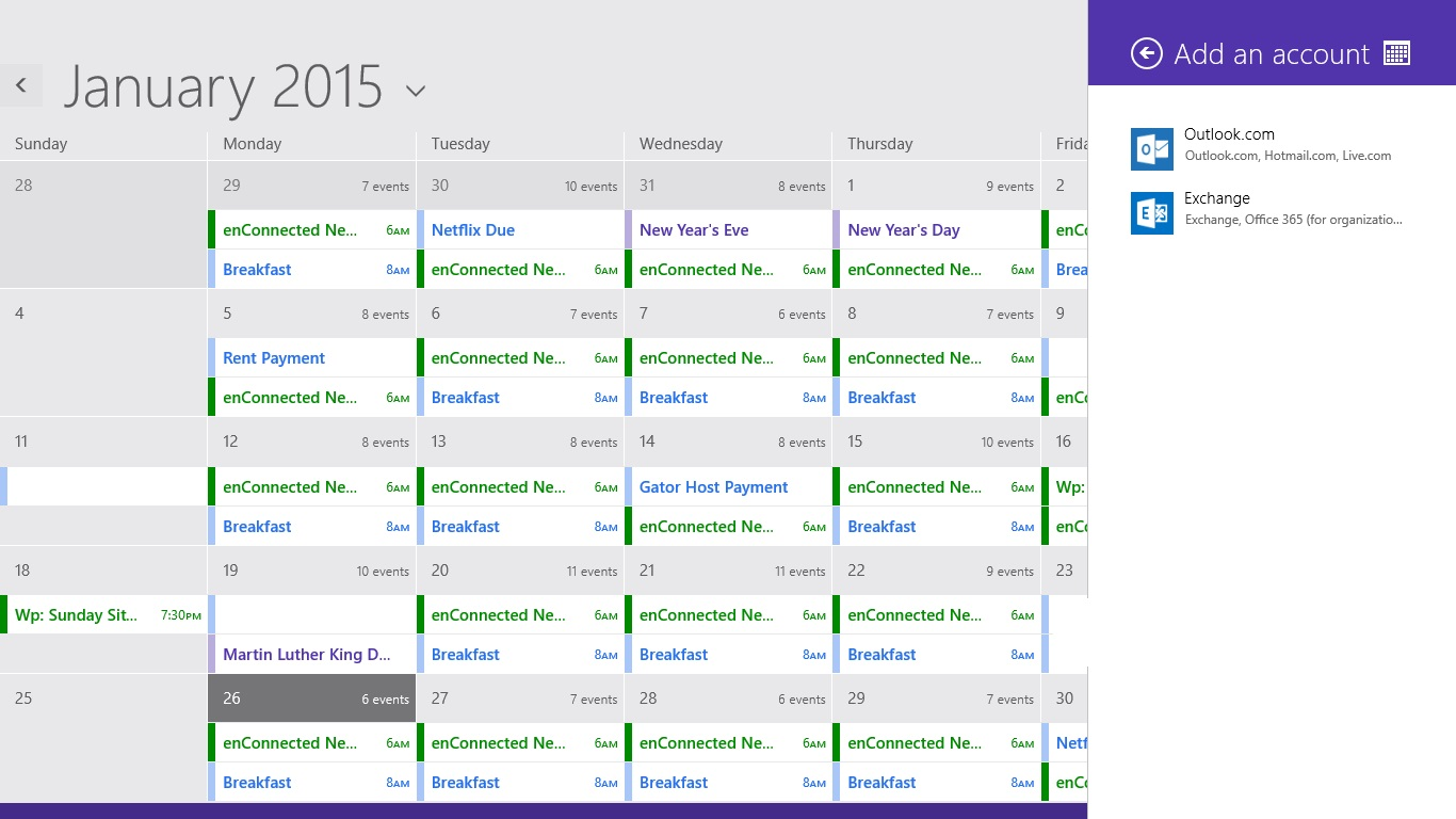 Så här lägger du till kalendrar i kalendern i Windows 8 (7)