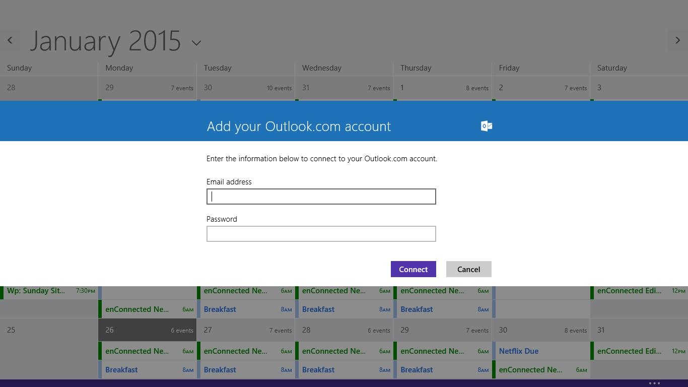 Så här lägger du till kalendrar i kalendern i Windows 8 (8)