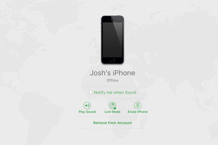 Välj den enhet du behöver stänga av Hitta min iPhone för.
