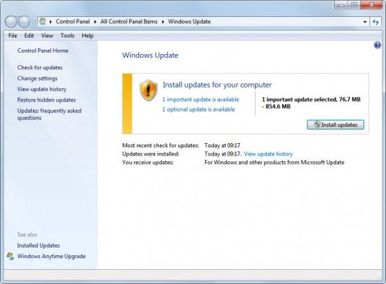 Windows uppdatering