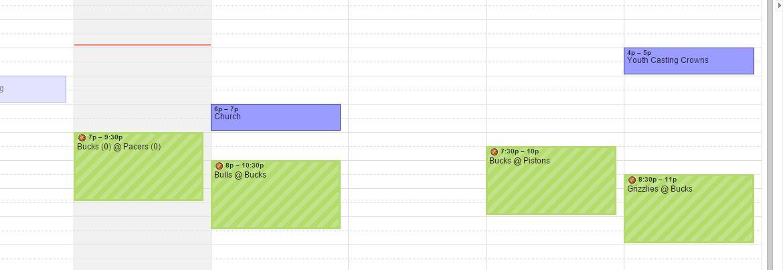 nba på Google-kalendern